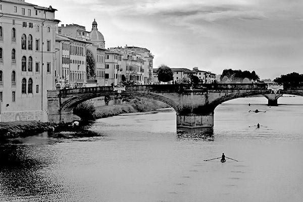 Vogatori (Rowers), The Arno River, Florence, Italy